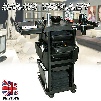 Salon Hairdresser Barber Hair Beauty Storage Trolley Cart Drawers Spa Colouring