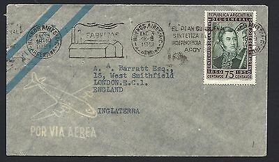 1951 Argentina Air Mail Cover to London