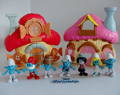 Smurf Houses and Figures