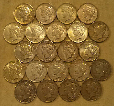 22 Coins: 1921-1935 Peace Dollars Nearly Complete Set - Only Missing 1927 & 1928