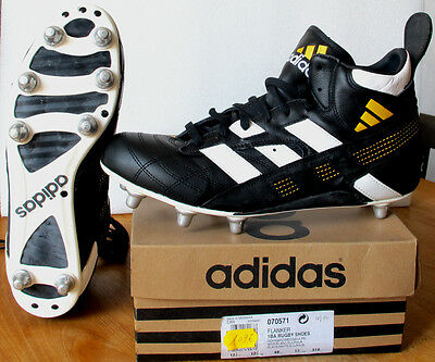 Chaussures Rugby ADIDAS FLANKER tiges hautes CUIR NEUF T48