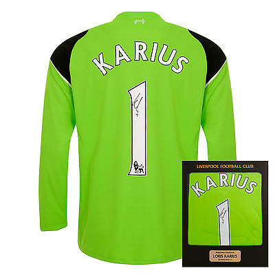Liverpool FC  LFC 16/17 Karius Signed Boxed Shirt Official
