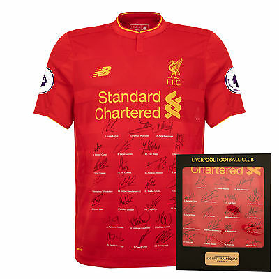 Liverpool FC  LFC 16/17 Squad Signed Boxed Shirt Official