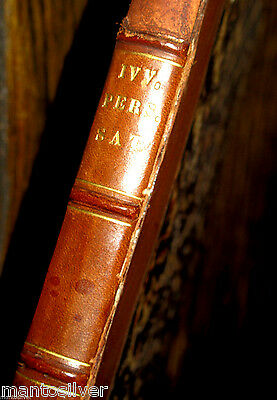 1519 JUVENAL Persius POST INCUNABLE Giunta FINE BINDING Satires SOCIETY Ancient
