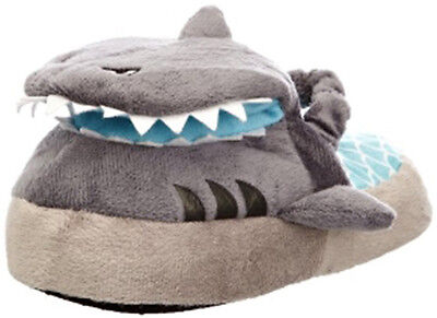 Silly Slippeez Shark Slippers Glow in the Dark Grey Super Comfy Small 8/9 Xmas