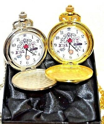 Masonic Pocket Watch Gift Oddfellows Detail Gold/Silver With/Without Engraving