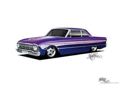 1964 Ford XM Falcon Hardtop Poster A3 420x297mm **concept drawing** print