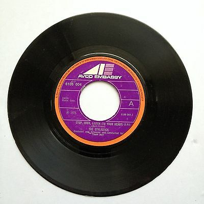 "The Stylistics Stop, Look, Listen (To Your Heart) / If I Love You 7"" Vinyl VG+"
