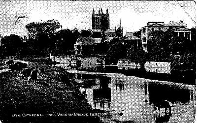 c 1926 Postcard - Hereford Cathederal