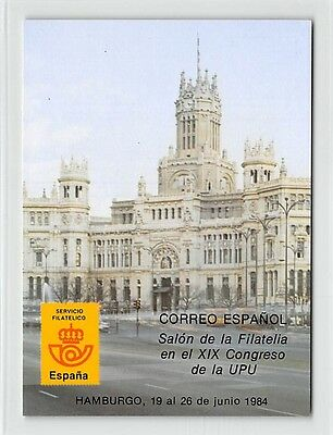 SPAIN UPU CONGRESS 1984 GEDENKKARTE GESCHENK !! MEMBERS ONLY !! RARE !! h0138
