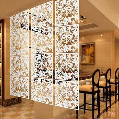 24Pcs Flower Wall Sticker Hanging Screen Balcony Room Divider Partition White
