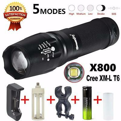 Zoom 5000 Lumen Battery Charger G700 LED Flashlight X800 Lumitact Torch New Good