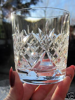"RCR Italian Crystal Whisky Tumbler Classico Pattern 3"" High Whisky Glass"