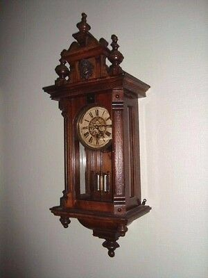 Antique Vienna Wall Clock French Or German Black Forest Unusual Pendulum Working