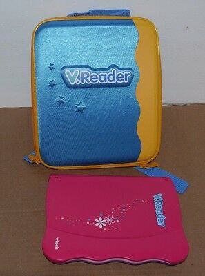 Vtech V Reader Touch Screen Educational Animated Book System w/ backpack
