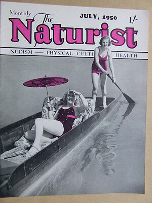 """The Naturist"" 1950 July. The British Physical Culture, Health Classic Magazine."