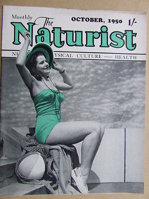 """The Naturist"" 1950 Oct. The British Physical Culture, Health Classic Magazine."