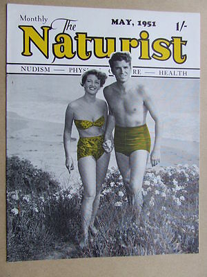 """""""The Naturist"""" 1951 May. The British Physical Culture, Health Classic Magazine."""