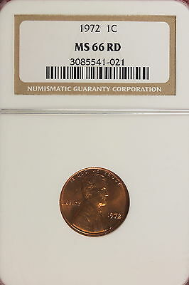 1972 Ngc Ms66 Red Lincoln Cent!!!! #A0562