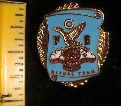 FOE, Fraternal Order of the Eagles Ritual Team Brooch, Pin