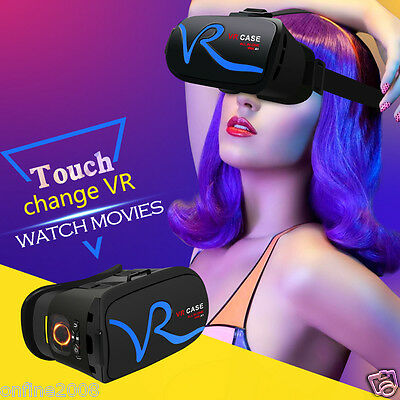 3D VR BOX VR Headset Virtual Reality Google Cardboard Glasses For iPhone Samsung