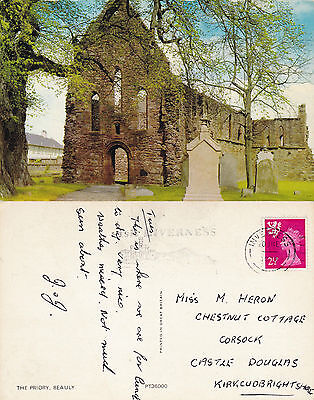 1972 The Priory Beauly Inverness Shire Scotland Colour Postcard