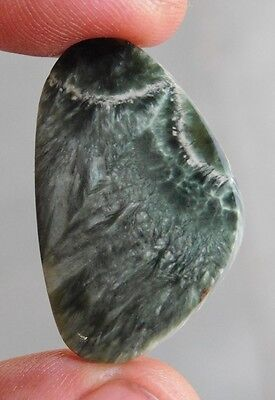 23.60 CtS. 100% NATURAL GREEN SERAPHINITE OVAL AFRICAN CABOCHON GEMSTONE