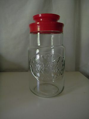 Vintage Maxwell House Coffee Glass Jar /Cannister-red Lid 1776 Election 1976
