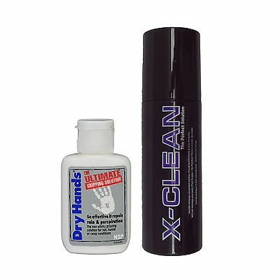 Dry Hands Ultimate Grip Solution 2oz Bottle & X Pole XClean The Perfect Solution
