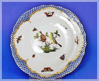 HEREND Rothschild Bird Blue Border (RO-EB) Kuchenteller Dessertteller Top 1.Wahl