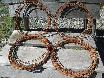 50 Wire Wreath Frames - Ribbon Crimped Rusted Wire - Primitive Wreath Wire