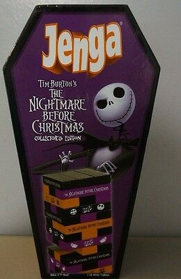 Disney Nightmare Before Christmas Collectors Edition Jenga Board Game!