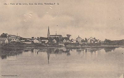 WATERLOO from the River Quebec Canada 1906 Pinsonneault Frères Postcard 181