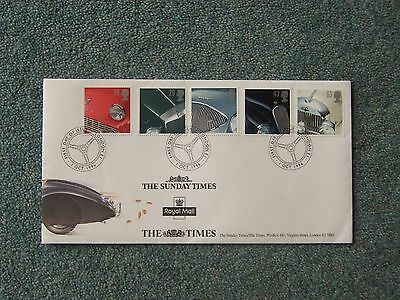 Five cars - 1st day of issue 1-10-1996 stamps