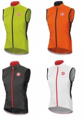 Castelli Velo Vest 4514027 Bicycle vest Rain Wind vest white, orange, black