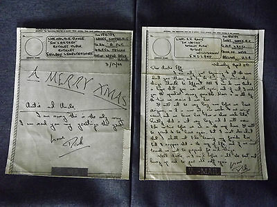 WWII V-Mails sent by RAF Cadet training in ARIZONA 1944