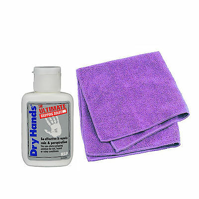Dry Hands Ultimate Grip Solution 1oz Bottle & X Pole Microfibre Cleaning Cloth