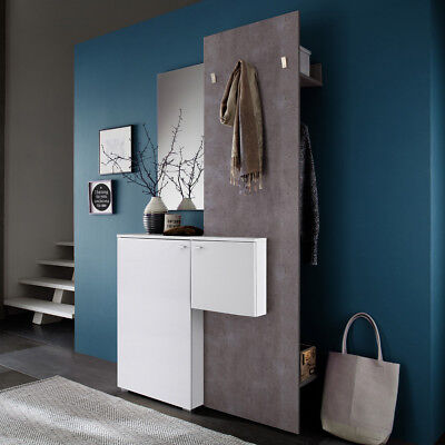garderobe zara 1 kleiderhaken wei melamin und betonoptik. Black Bedroom Furniture Sets. Home Design Ideas