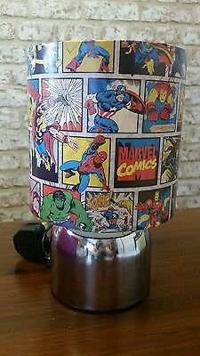Brand New Marvel Avengers boys bedroom touch lamp handcrafted new
