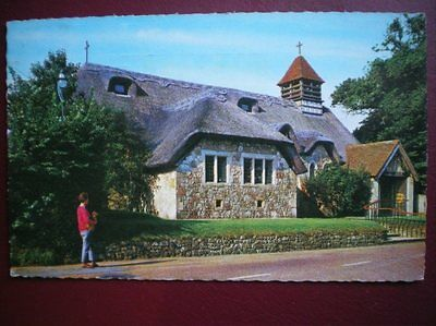 Postcard Isle Of Wight Freshwater Bay - The Thatched Church