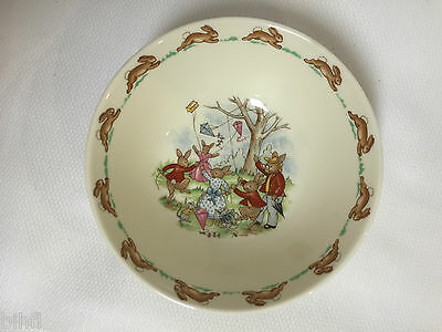 Royal Doulton / Bunnykins / Bunnies Flying Kites / Child's Cereal Bowl