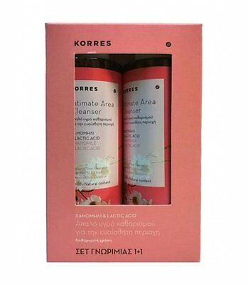 KORRES INTIMATE FEMALE AREA CLEANSER CHAMOMILE & LACTIC ACID 2 x 250ML