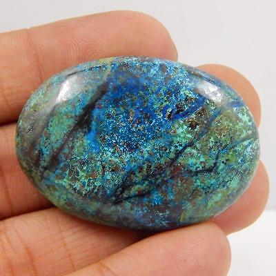 96.7 Cts 100% NATURAL AZURITE BEAUTIFUL COLOUR AND QUALITY CABOCHON L#163-78