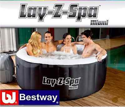 Bestway Lay-Z-Spa Miami Premium Inflatable Hot Tub Jacuzzi 2-4 person NEW