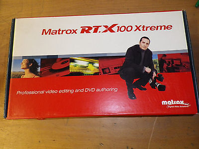 MATROX RT.X100 Xtreme - PROFESSIONNAL VIDEO EDITING AND AUTHORING