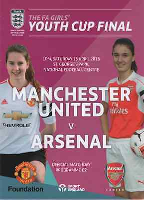 Manchester United Girls v Arsenal Girls F.A. Girls Youth Cup Final (2016)
