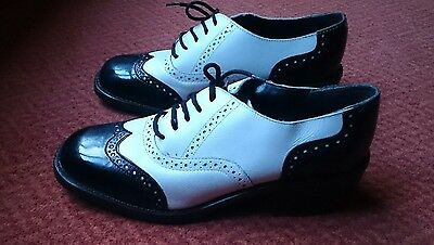 SPAT SHOES. Mens / boys black and white. Size 39 or UK 6