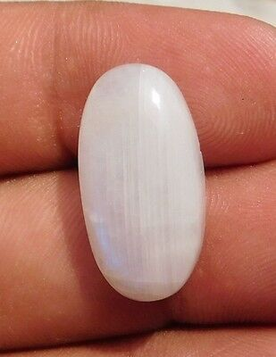 16.1 Cts Brilliant 100% Natural Rainbow Moonstone 23X12X6 Mm Cabochon Gemstone
