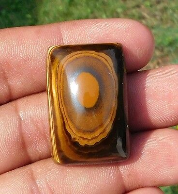 99.6 Cts 100% Natural *Fab A++*Ulous Yellow Tiger Eye 33X22Mm Cabochon Gemstone