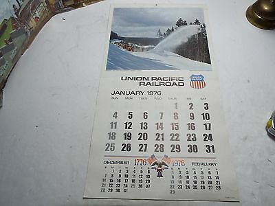 1976 UNION PACIFIC RAILROAD 12 month CALENDAR  with photos